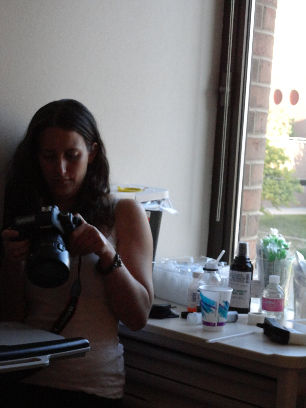 Jen and her camera.