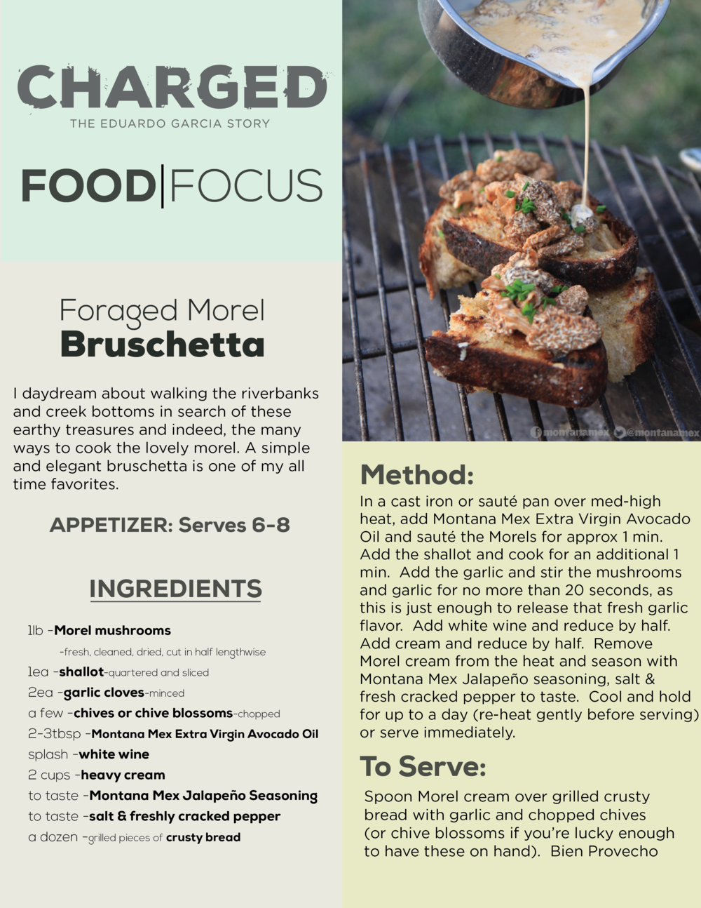 Eduardo Garcia_Morel Bruschetta_Recipe_Charged