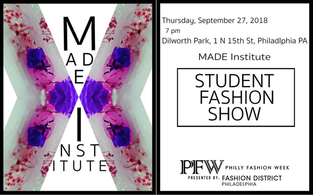 SEPT 27TH @ CITY HALL PHILADELPHIA  LATEST STUDENT COLLECTIONS ON OUR SEPTEMBER RUNWAY IN PARTNERSHIP WITH PHILLY FASHION WEEK