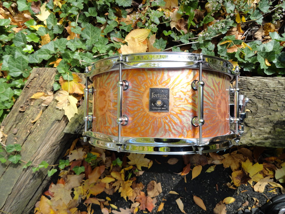 VARIGATED GOLD LEAF SNARE IN 6 X 12""