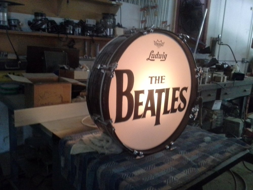 Beatles Drum Head display project