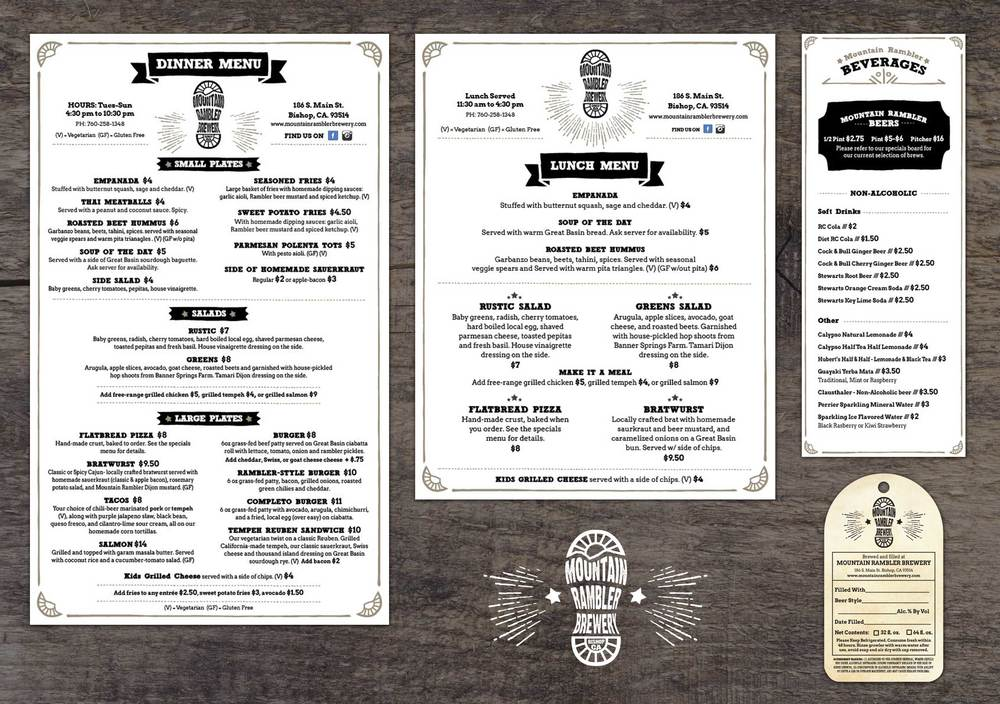 Mountain Rambler Brewery Menu