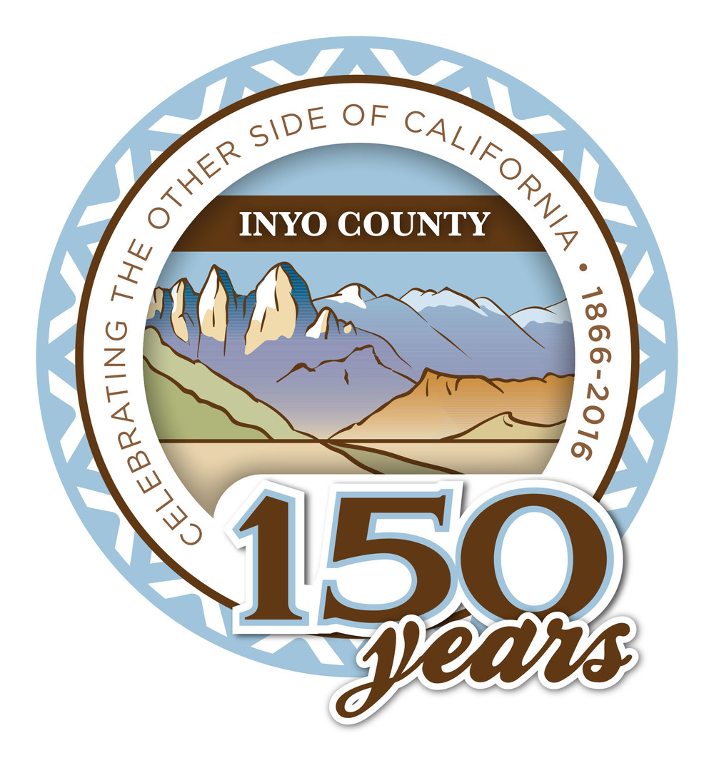 Inyo County 150th Birthday Logo