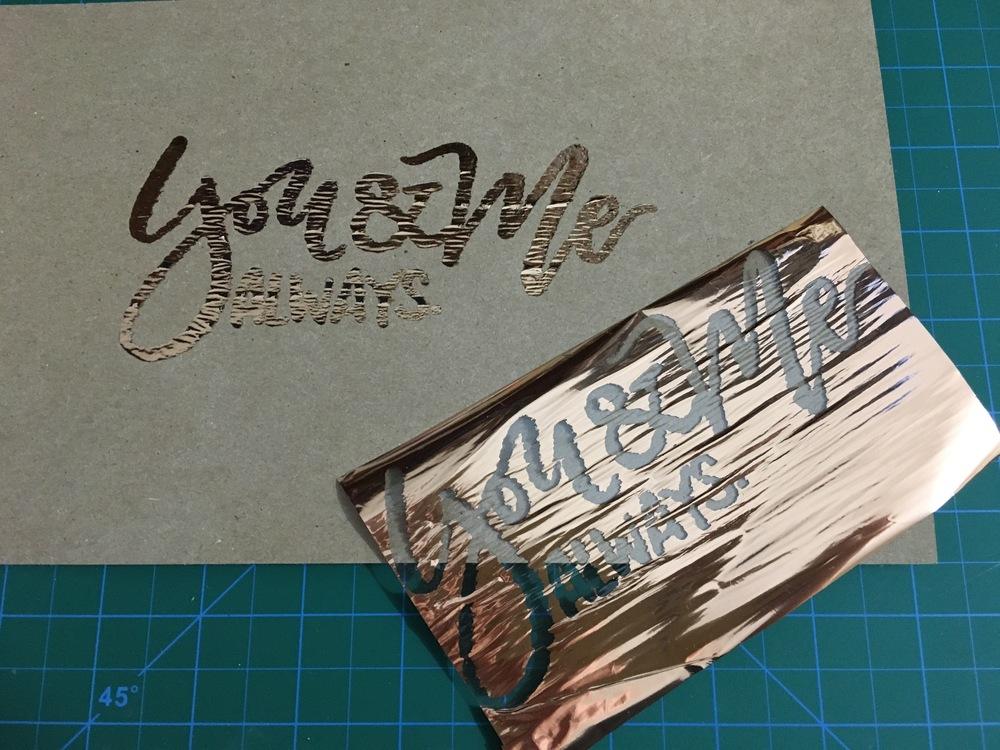 How to Foil your Lettering/Designs — Poppy + Mint Design