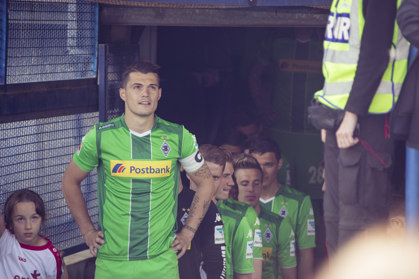 Granit Xhaka in the tunnel