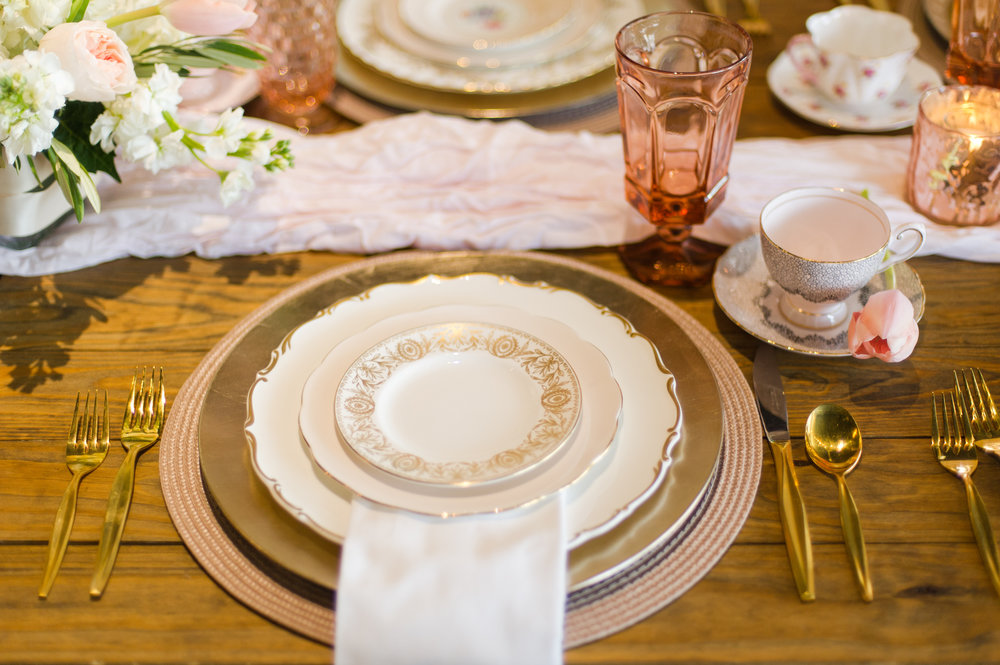 China and glassware from Tea and Old Roses