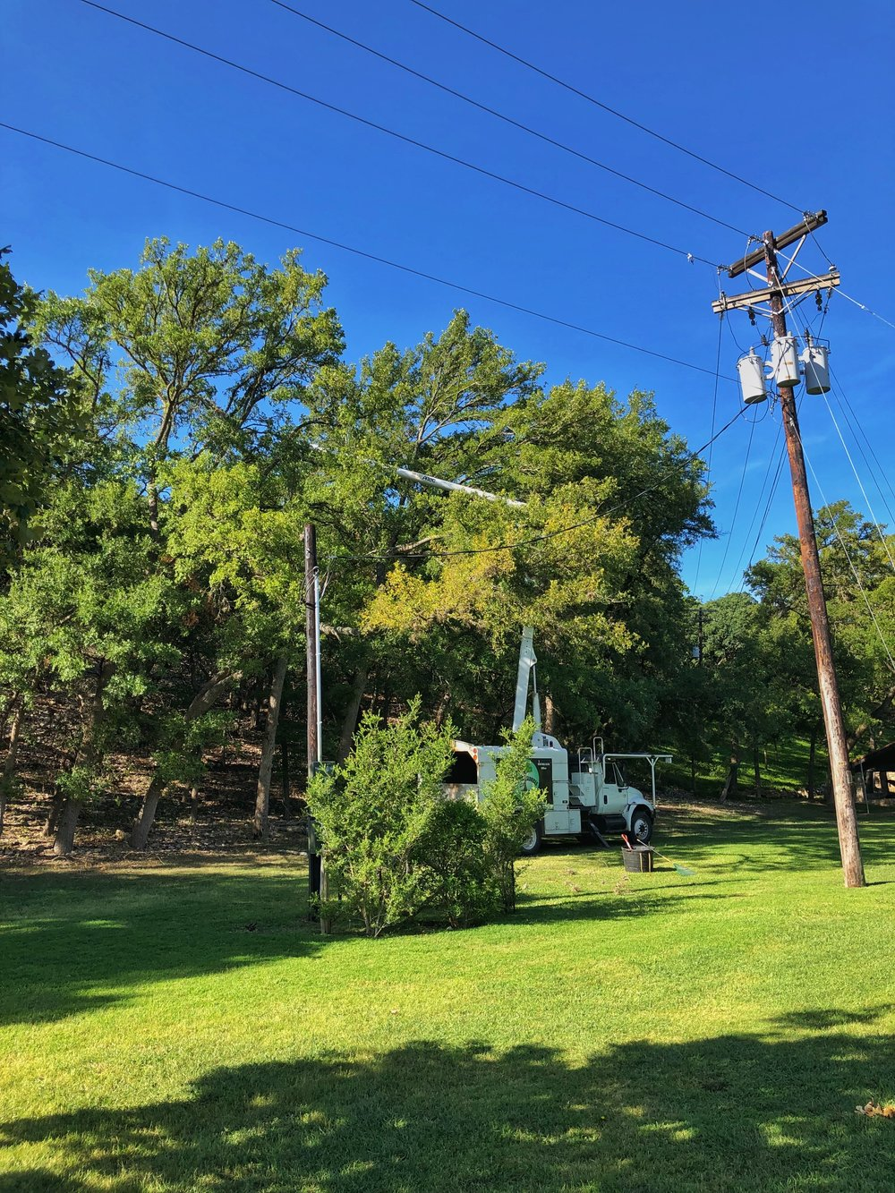 Bucket Truck work in the Texas Hill Country