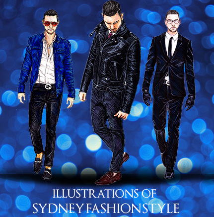 SydneyFashionStyle illustrationsby Firdaus Ahmed