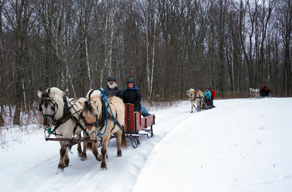 We capped the clinic off with a drive on the sleigh trails.