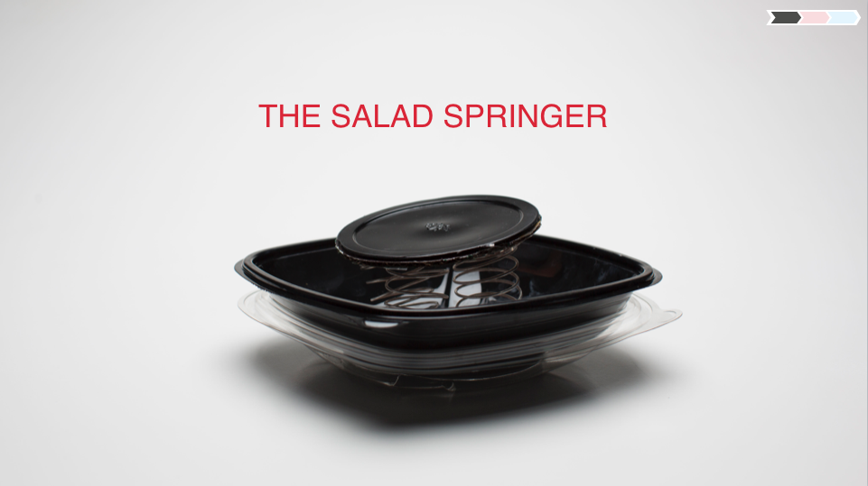 We actually prototyped a few salad inventions..