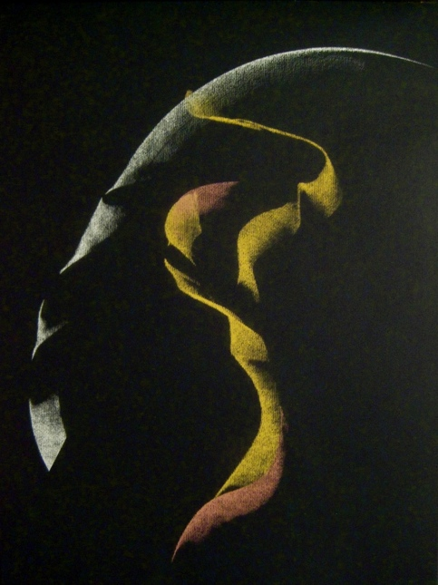 "Untitled drawing, Pastel on paper, 14"" x 17"", 2010"