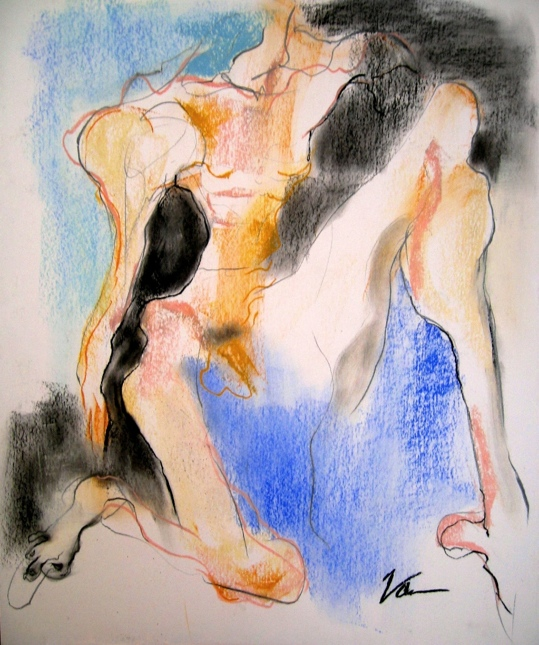 Sketch for Dessicated Kneeling Nude