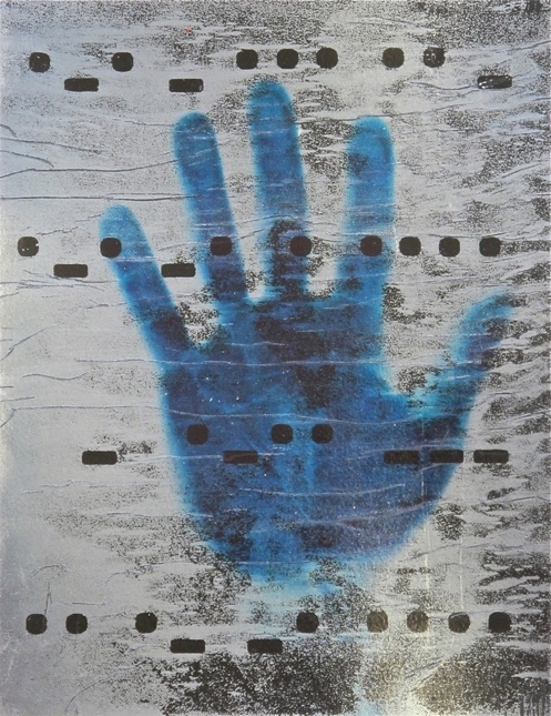 Hand of the Artist, Left,   Mixed Media, (study for final work), 2012