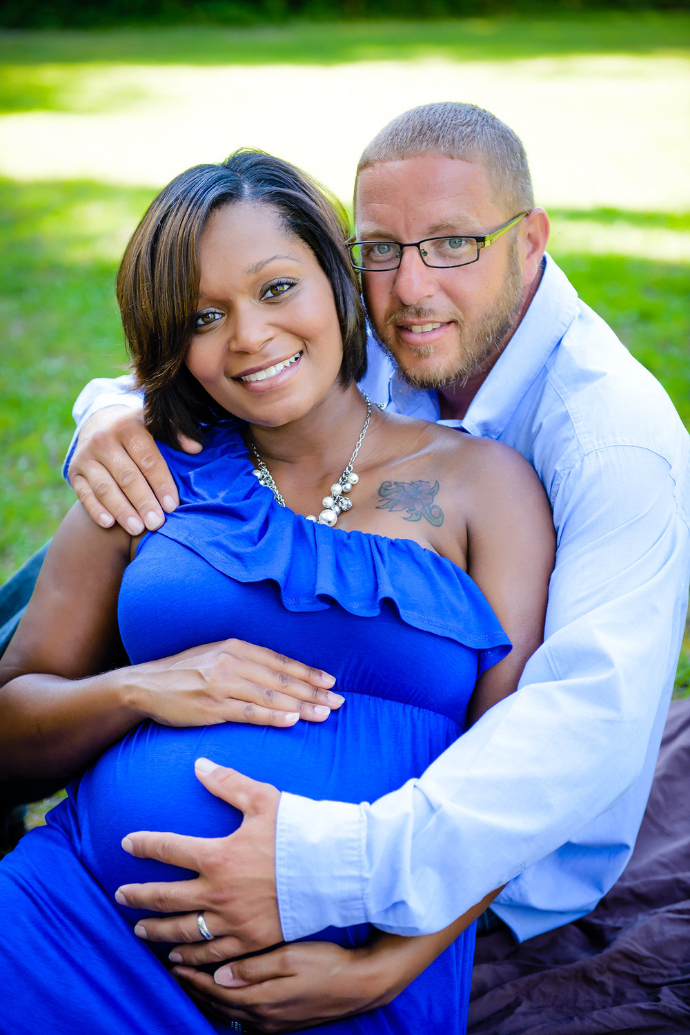 African American Family Maternity Photos