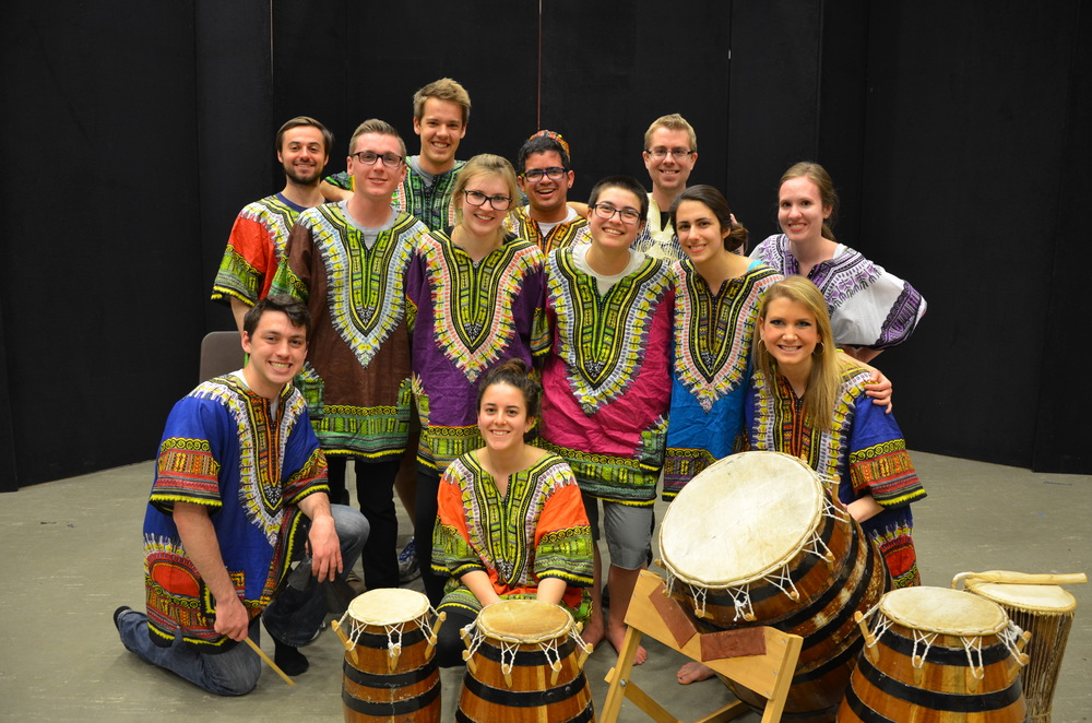 "Performers from ""African Roots"" percussion concert at the University of Michigan '15"