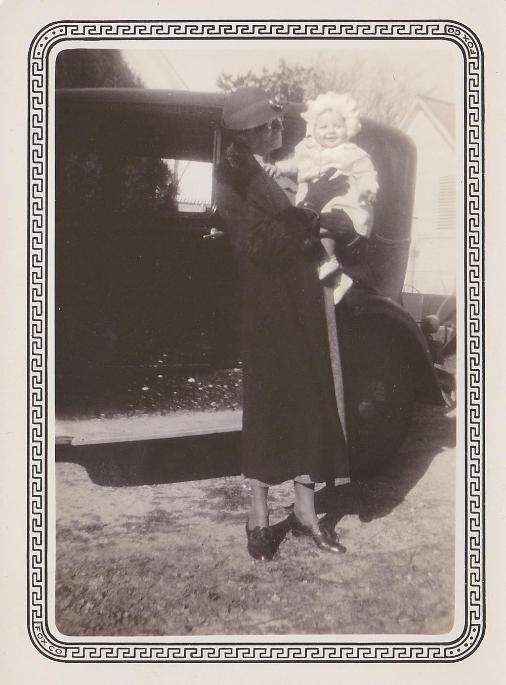 "Karrina ""Carrie"" Swenson Knudson and her granddaughter Geneva Allen. Courtesy of Geneva Allen Finstad."