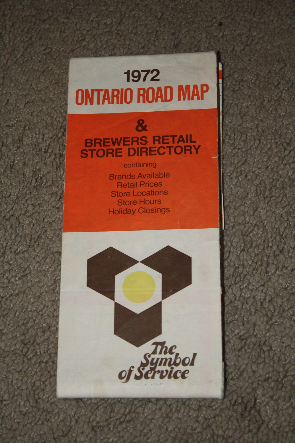 Paper - Brewers Retail Ontario Road Map_1972