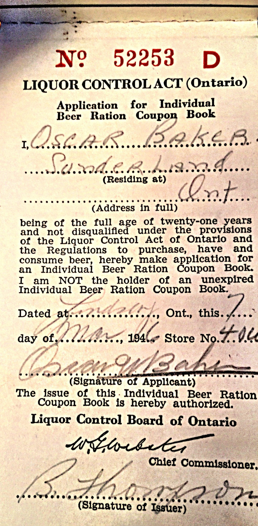 LCBO Coupon Book 1946_personal info