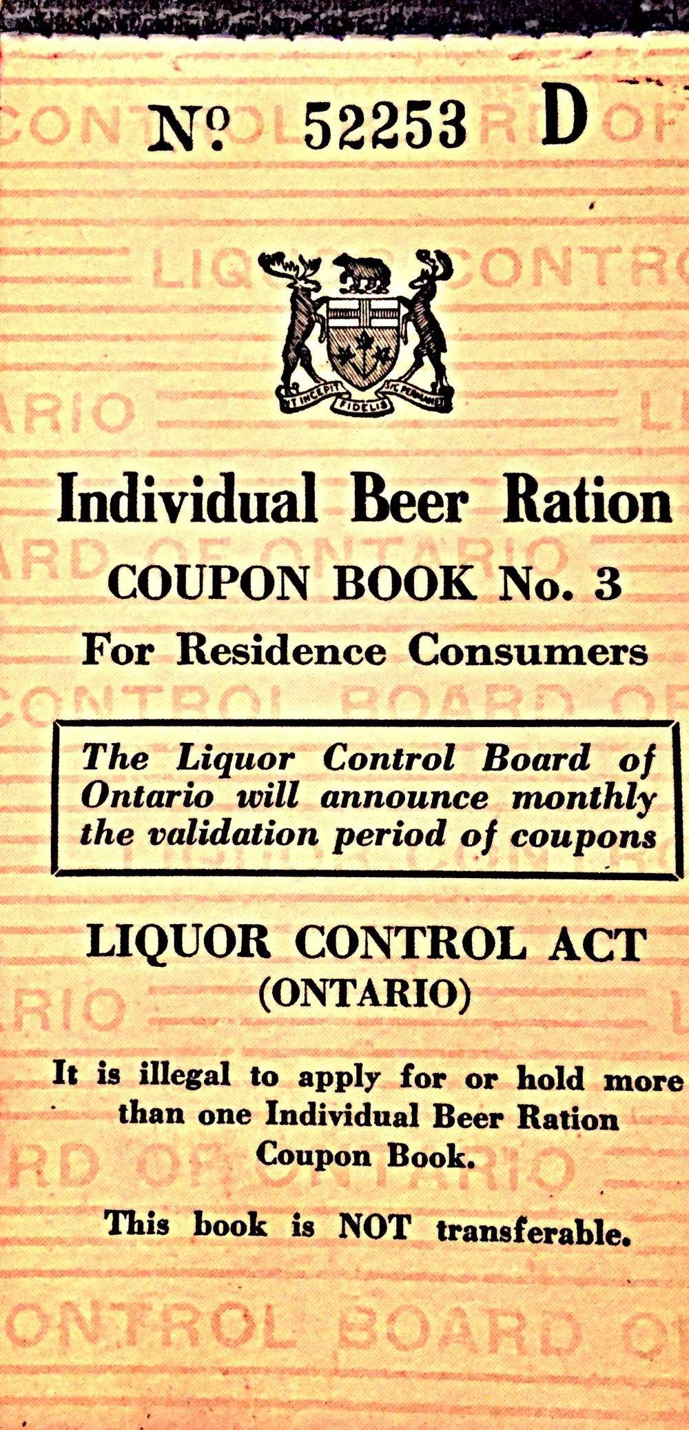 LCBO Coupon Book 1946_front