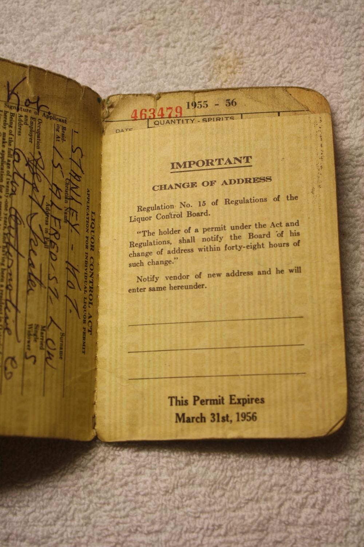 LCBO Liquor Permit Book_1955-1956_important-info