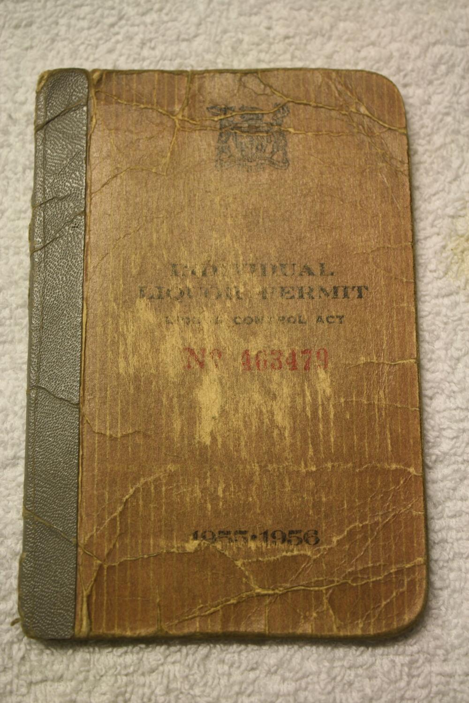 LCBO Liquor Permit Book_1955-1956_Front