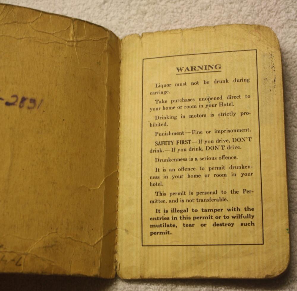 LCBO Liquor Permit Book_1955-1956_InsideCover