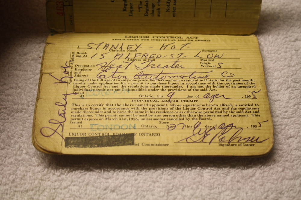 LCBO Liquor Permit Book_1955-1956_Personal_Info