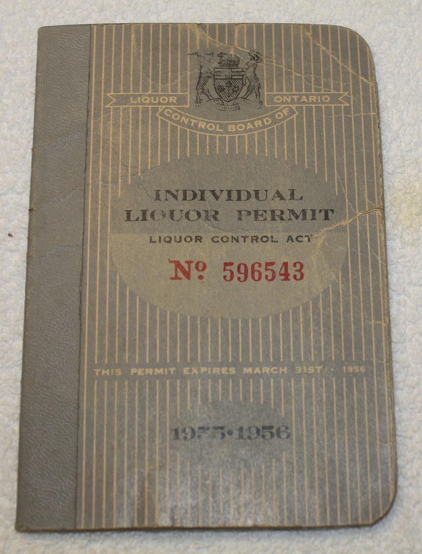 LCBO Liquor Permit Book_1955-1956_Belec_Front