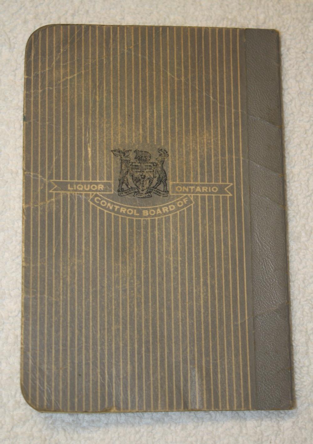 LCBO Liquor Permit Book_1955-1956_Belec_Back