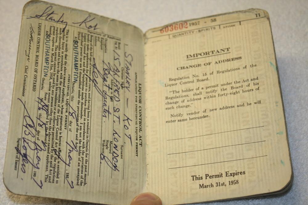 LCBO Individual Liquor Permit book_(1957-1958)_important info