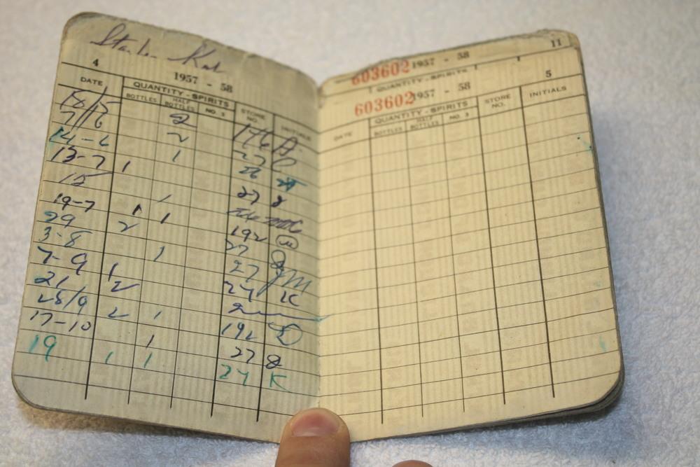 LCBO Individual Liquor Permit book_(1957-1958)_purchases