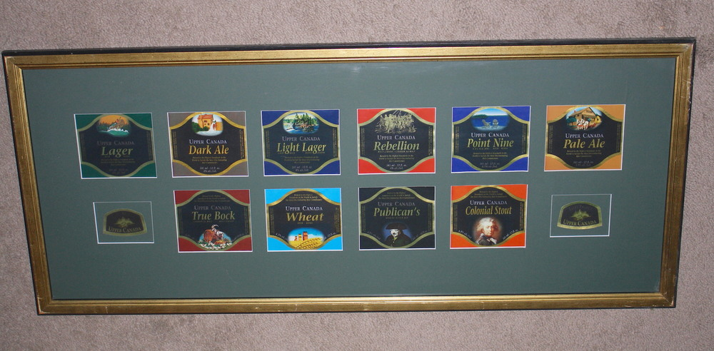 Upper Canada Brewing Co_Labels in frame