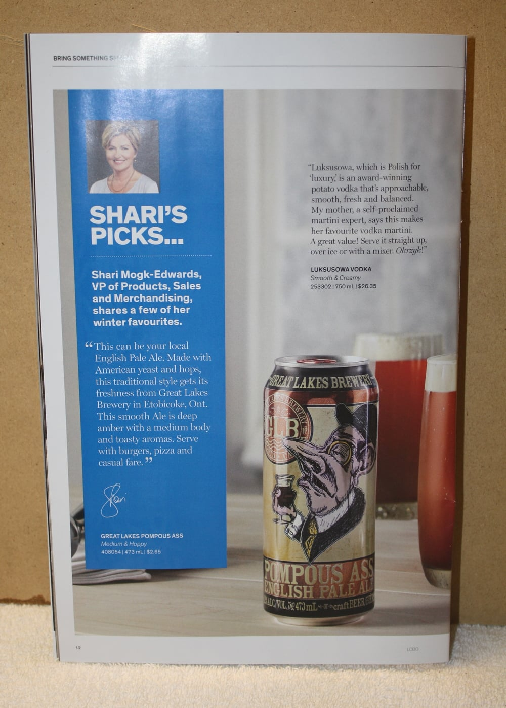 LCBO Warm Welcome_Pompous Ass Shari's Pick (Winter2016)