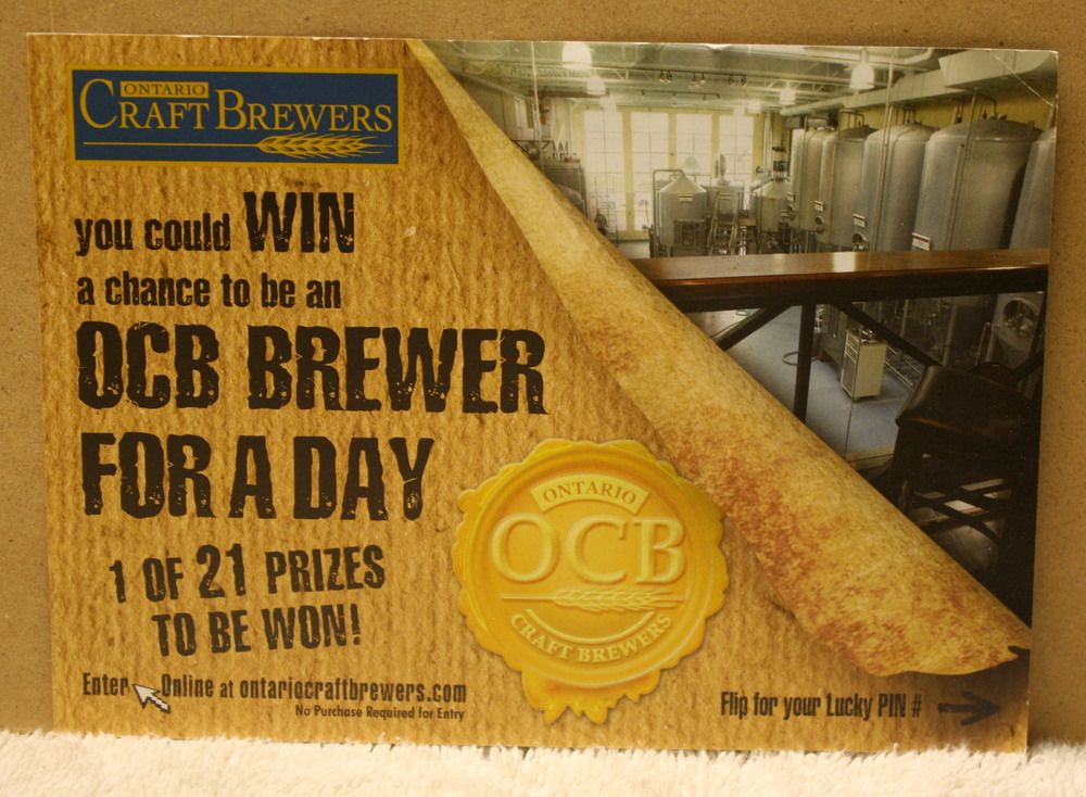 OCB Brewer For a Day postcard