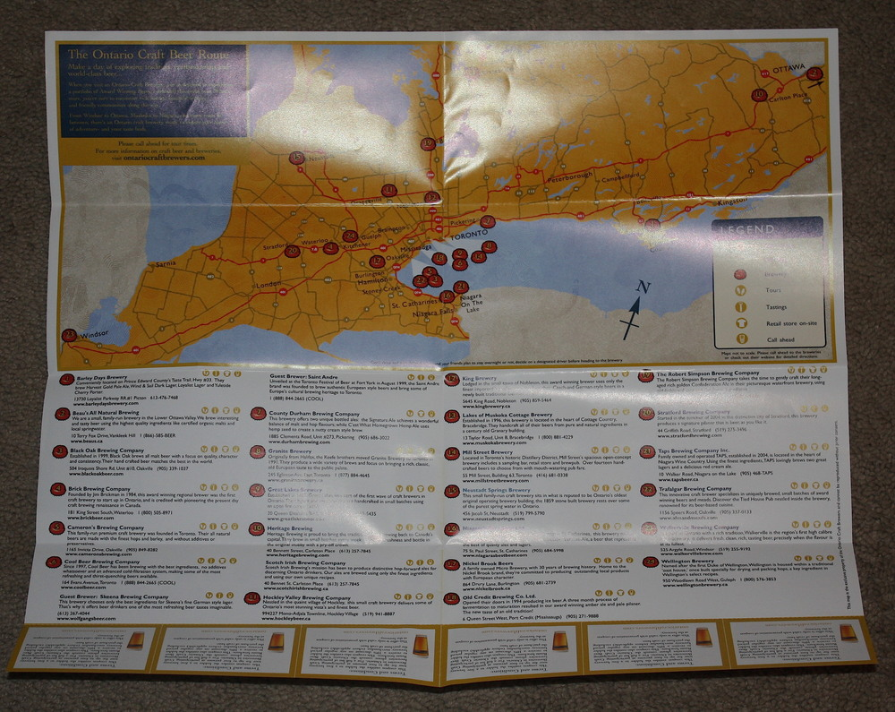 Ontario Craft Beer Route inside Map_2008