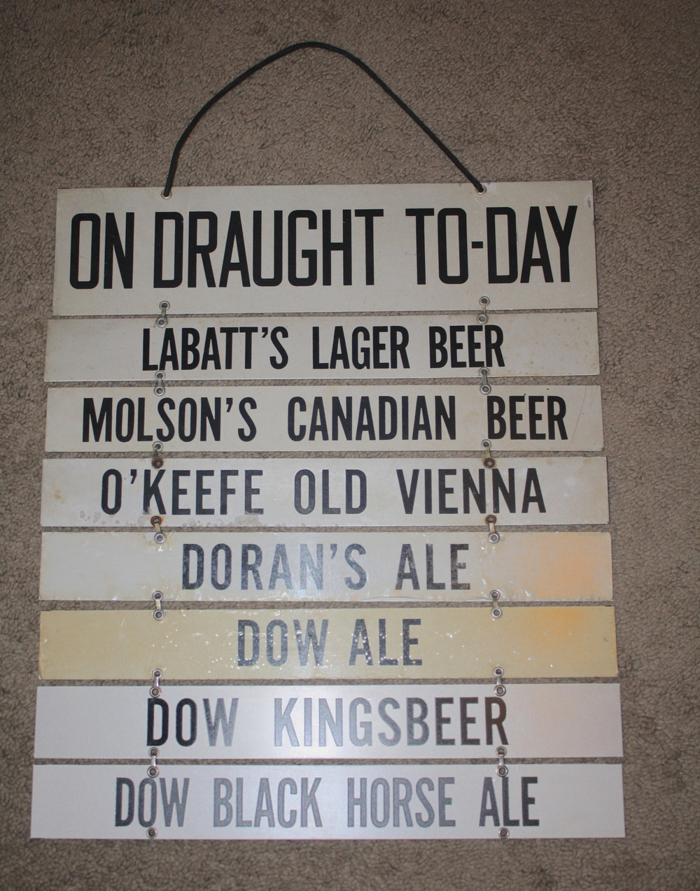 Hanger - On Draught To-Day