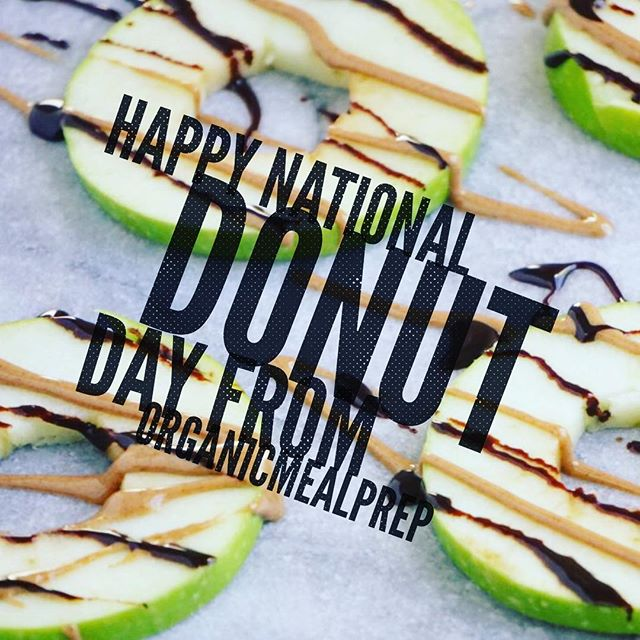 #nationaldonutday #healthyfood #healthydonut These #apple snacks are #shaped like #donuts since they are circular, so kids really enjoy the presentation. They don't require any silverware and are easy to just pick up and eat with your hands. It's so nice to know you're providing healthy options for your #children that they can still be excited about. They're vegan and gluten-free so almost anyone can enjoy them (unless you have a nut allergy – then I suggest subbing the almond butter for sunflower butter).