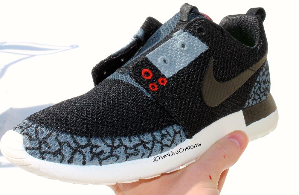 6982ae8b0a273 closeout nike roshe one womens shoe ab20f 2f595  norway nike roshe run  black cement a511e 65af4