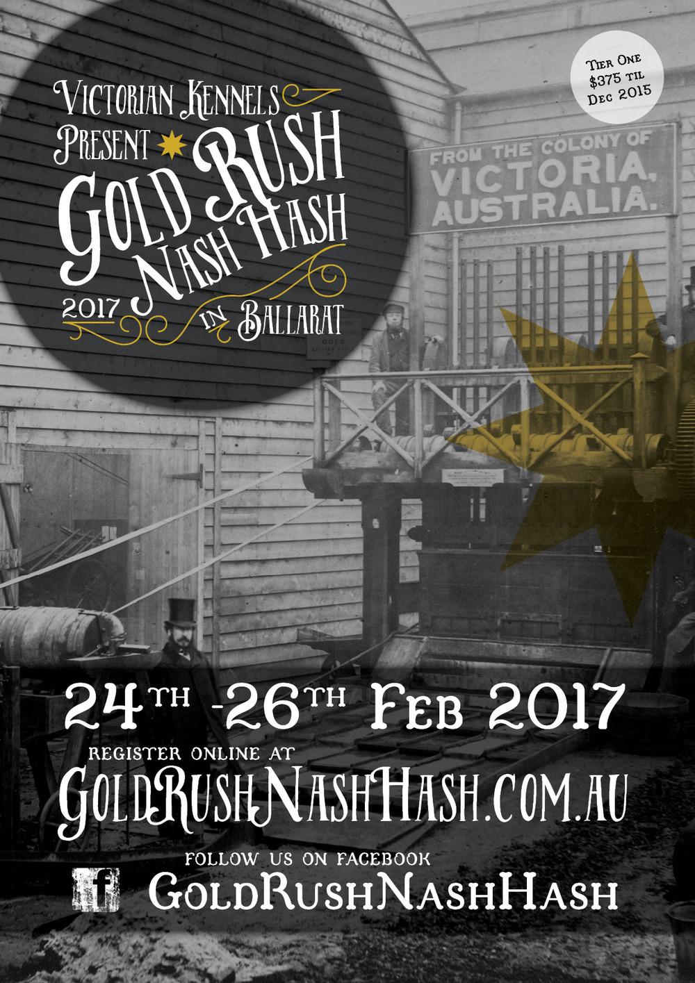 Gold Rush Nash Hash Flyer