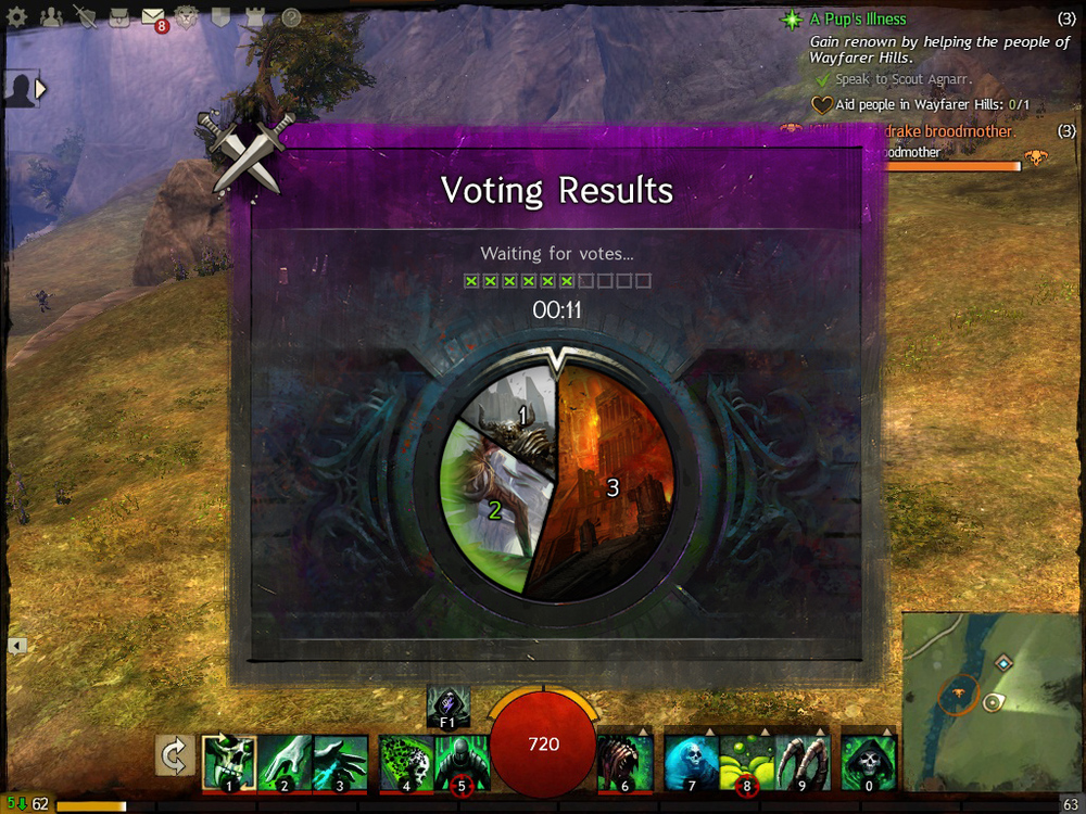 Map voting UI & Illustration created for PVP map voting. (Bordered by a standard UI container created by  Luke Nalker .)
