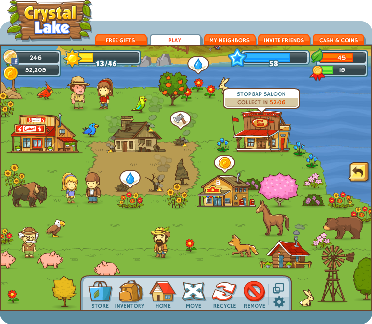 Crystal Lake game screenshot