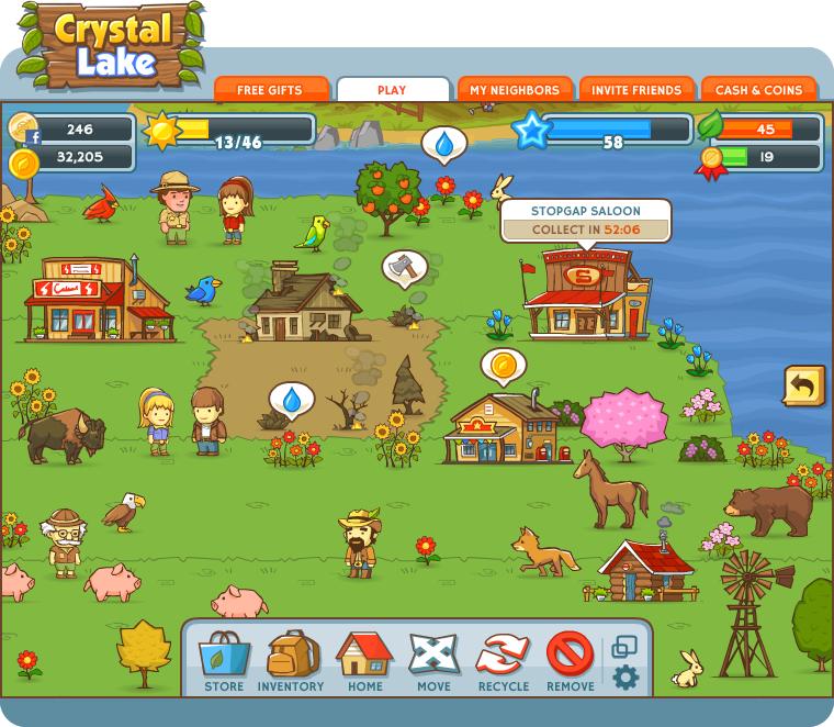 Crystal Lake game screenshot