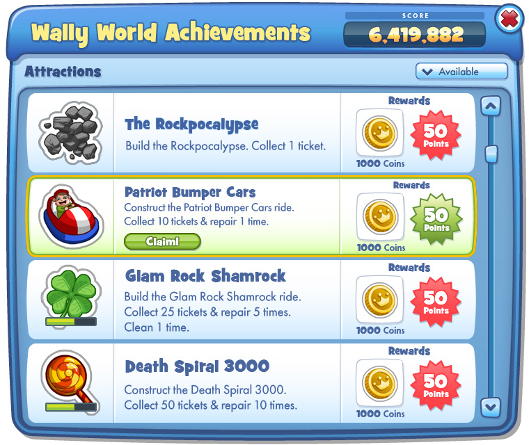Achievements UI • Detail Page