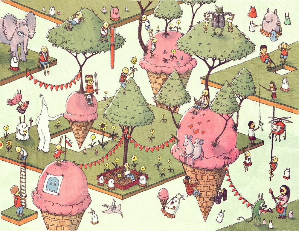 Happy Ice Cream Planet