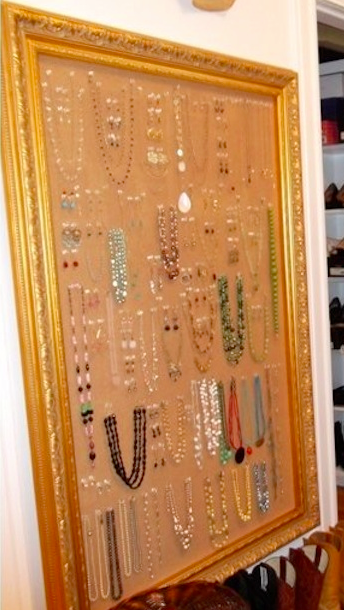 Within The Picture Area And Hang Earrings In Pairs Necklaces In The Middle And Bracelets Side By Side Its A Great Way To Turn That Jewelry Into Art