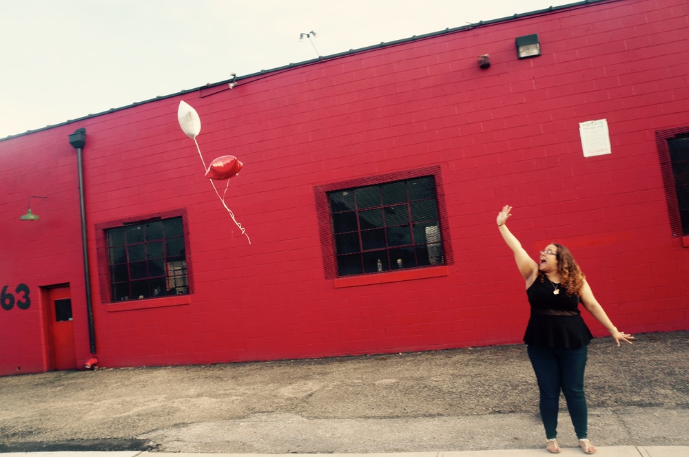Who doesn't love watching balloons fly away?! Happ E. SexTalk's Founder sure does! :)