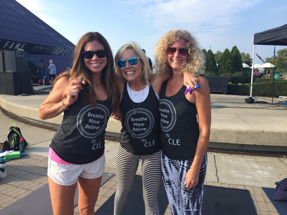 Ann, Tammy, and Lanie at  Believe in CLE 2015