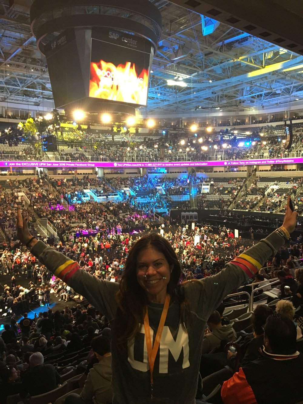 Still buzzing!  Thrilled with first day and so excited for the next. Tired but so energized by the crowd of people from 52 countries and all different demographics. The energy of love and joy was absolutely beaming and radiating from everyone.   I loved the DJ and when you have that many singing and dancing it is a giant party. I totally soaked up this atmosphere and am still buzzing today!