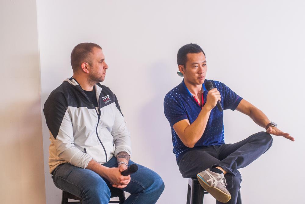 Justin Kan (Y-Combinator, Twitch) & Chris J (StartupGrind Australia)