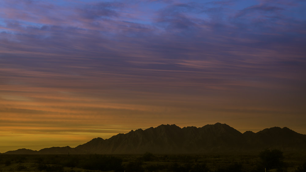 Sunrise In Dome Valley | Arizona | Technical Information - Canon 5DM3 - Canon EF 70-300mm f/4-5.6L IS USM UD - ISO 100 - 83mm - f/4 - 1/25sec